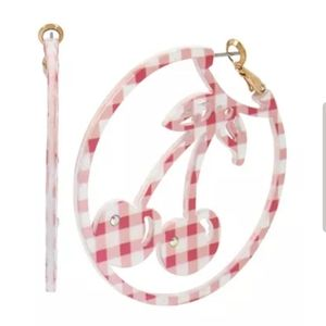 Betsey Johnsom Gingham Cherry Hoops NWT Never Worn